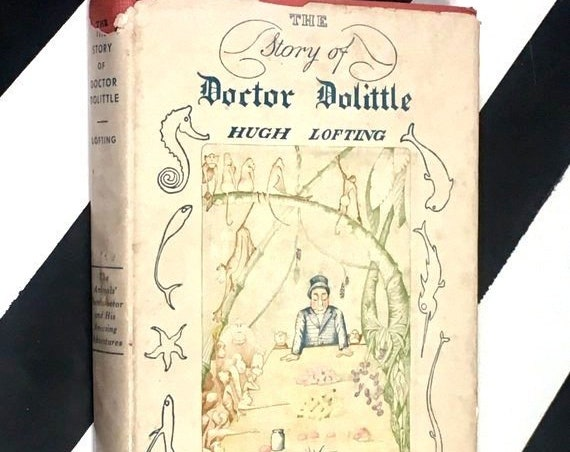The Story of Doctor Dolittle by Hugh Lofting (1948) hardcover book