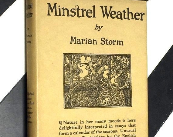 Minstrel Weather by Marian Storm (1920) hardcover book