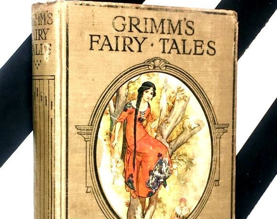 Grimm's Fairy Tales with 48 Coloured Plates by Harry G. Theaker (1920) hardcover book