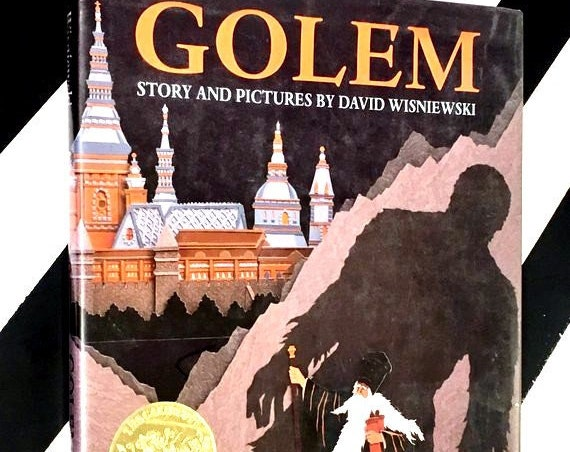 Golem story and pictures by David Wisniewski (1996) hardcover book