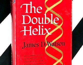The Double Helix by James D. Watson (1968) hardcover book