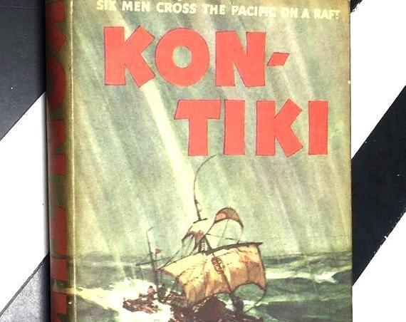 Kon-Tiki: Six Men Cross the Pacific on a Raft by Thor Heyerdahl (1951) hardcover book
