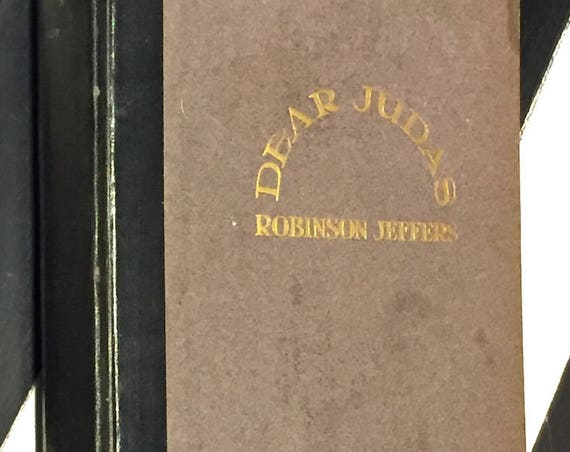Dear Judas by Robinson Jeffers (1929) first edition book