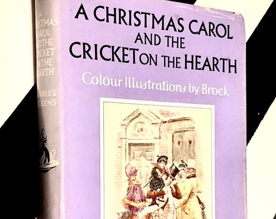 A Christmas Carol and the Cricket on the Hearth by Charles Dickens (1975) hardcover book