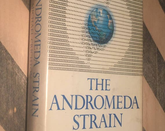 The Andromeda Strain by Michael Crichton (1969) hardcover book