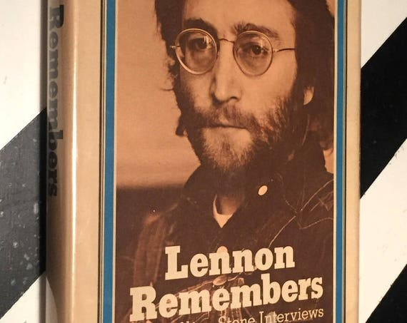Lennon Remembers: The Rolling Stone Interviews by Jann Wenner (1971) hardcover book
