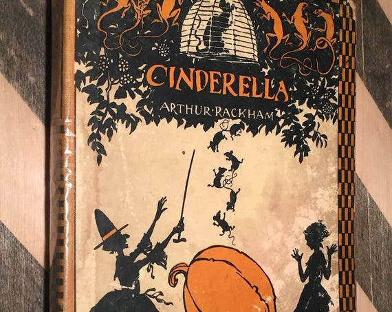 Cinderella by Arthur Rackham (1919) first edition book