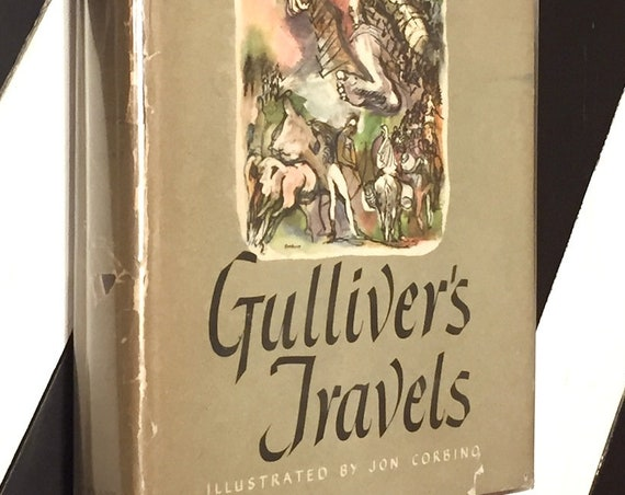 Gulliver's Travels by Jonathan Swift (1945) hardcover book