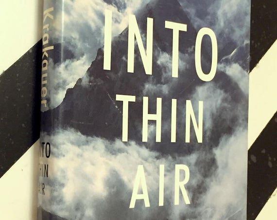Into Thin Air by Jon Krakauer (1997) first edition book