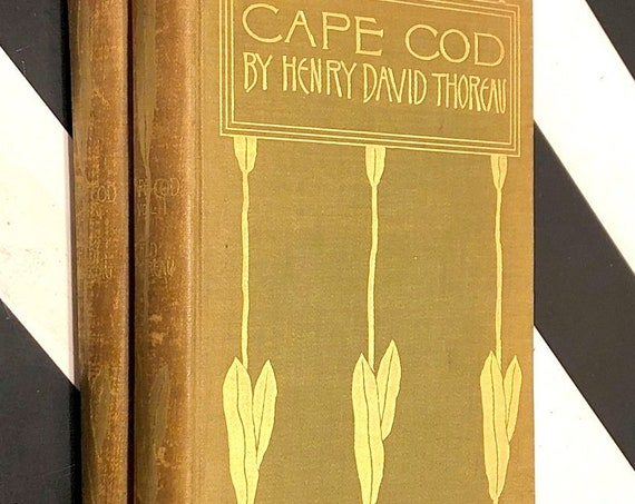 Cape Cod by Henry David Thoreau (1896) hardcover book in two volumes
