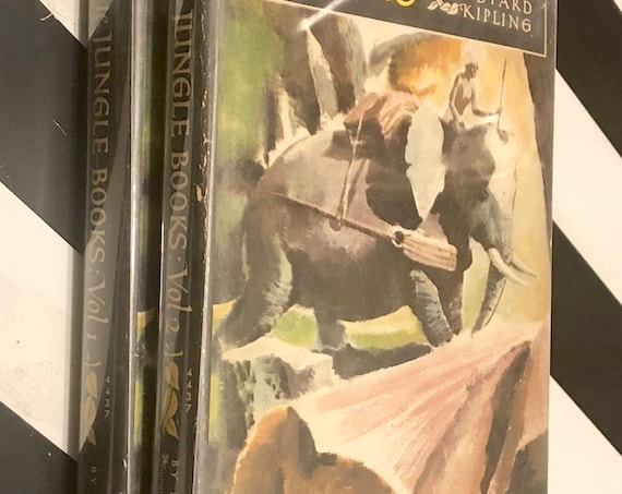 The Jungle Books by Rudyard Kipling (1948) hardcover book in two volumes