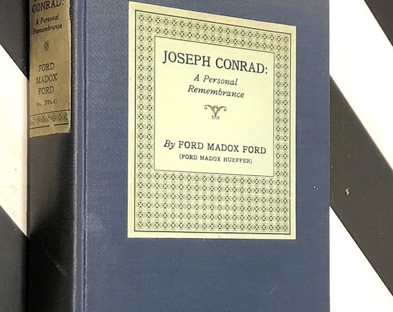 Joseph Conrad: A Personal Remembrance by Ford Madox Ford (1924) first edition book