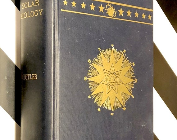 Solar Biology by Hiram Butler (1956) hardcover book