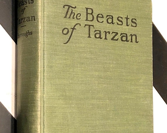 The Beasts of Tarzan by Edgar Rice Burroughs (1916) hardcover book