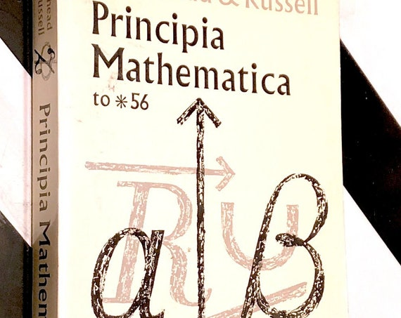 Principia Mathematica by Alfred North Whitehead and Bertrand Russell (1962) softcover book