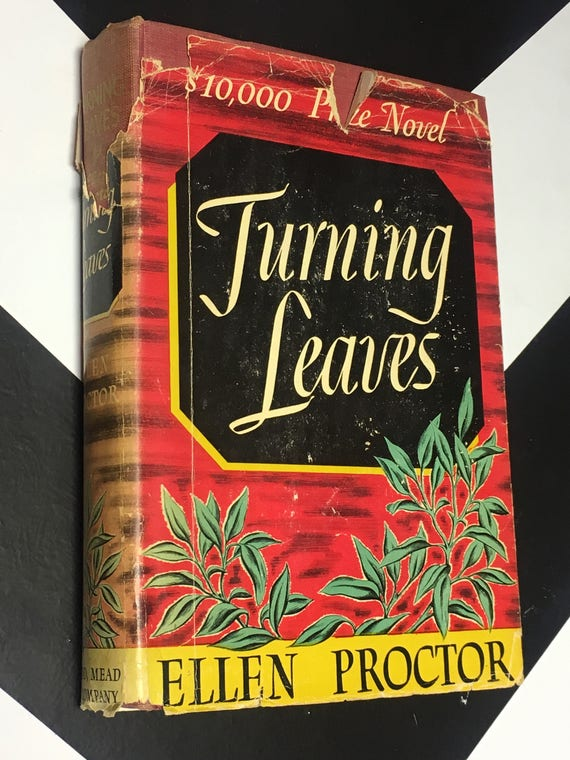 Turning Leaves by Ellen Proctor prize winning novel (Hardcover, 1942)