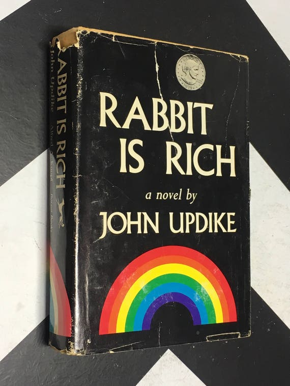 Rabbit is Rich by John Updike vintage rainbow classic fiction novel book (Hardcover, 1981)