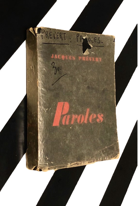 Paroles by Jacques Prevert (1957) softcover book