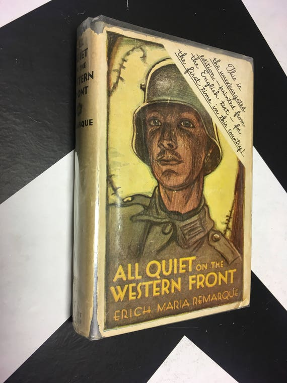 All Quiet on the Western Front by Erich Maria Remarque (1930) hardcover book