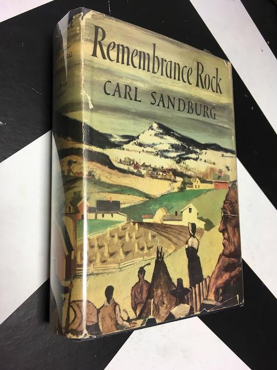 Remembrance Rock by Carl Sandburg rare vintage fiction novel (Hardcover, 1948)