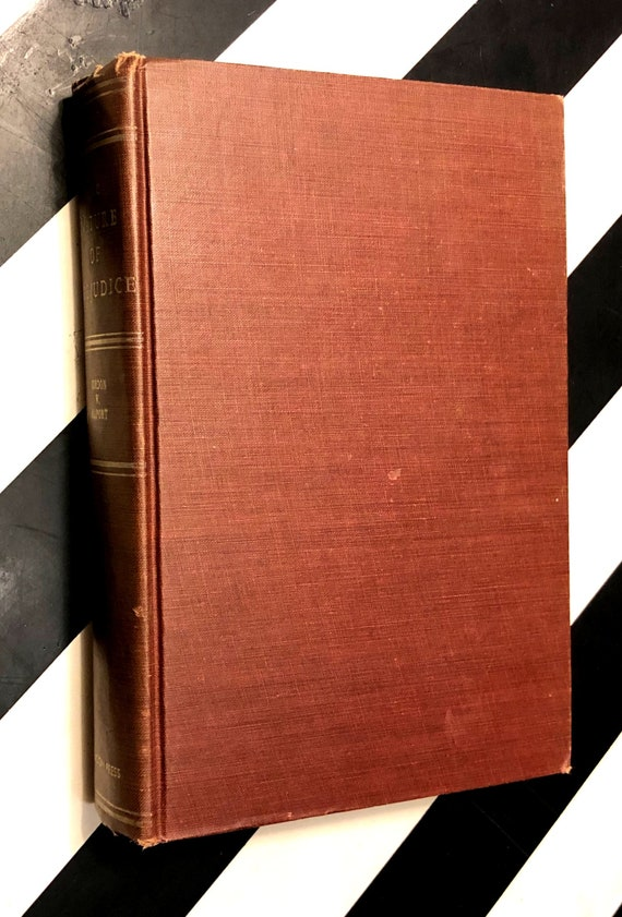 The Nature of Prejudice by Gordon Allport (1952) hardcover book
