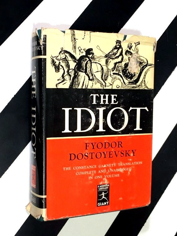 The Idiot by Fyodor Dostoyevsky (1962) hardcover book