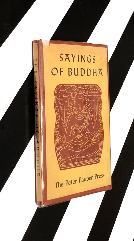 Sayings of Buddha illustrated with wood-engravings by Boyd Hanna (1957) hardcover book