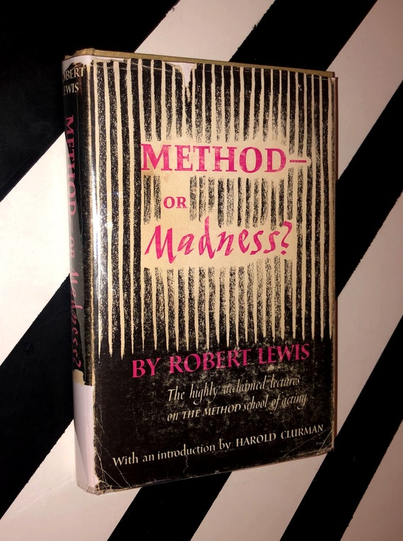 Method — Or Madness? Lectures on Method Acting by Robert Lewis (1958) hardcover book