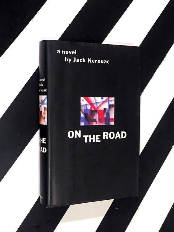 On the Road: A Novel by Jack Kerouac (1957) hardcover first edition library facsimile