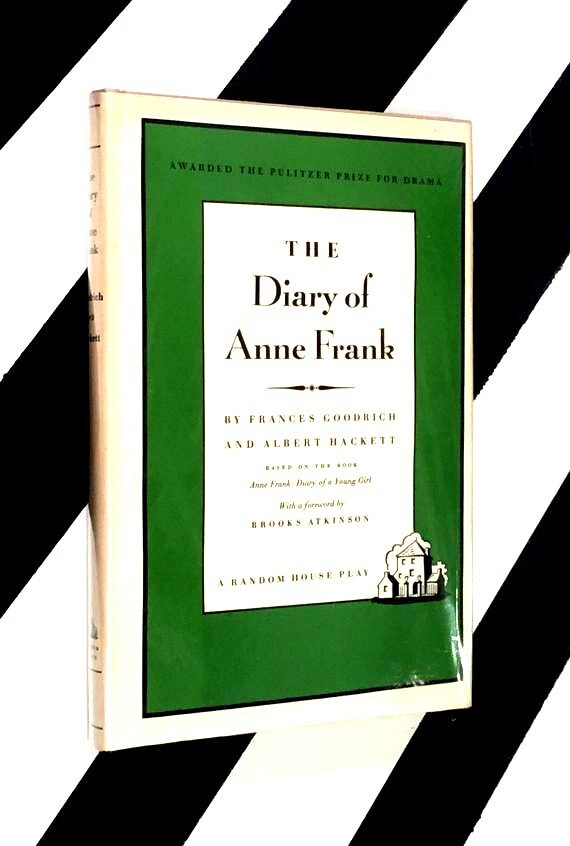 The Diary of Anne Frank by Frances Goodrich and Albert Hackett (1956) hardcover book