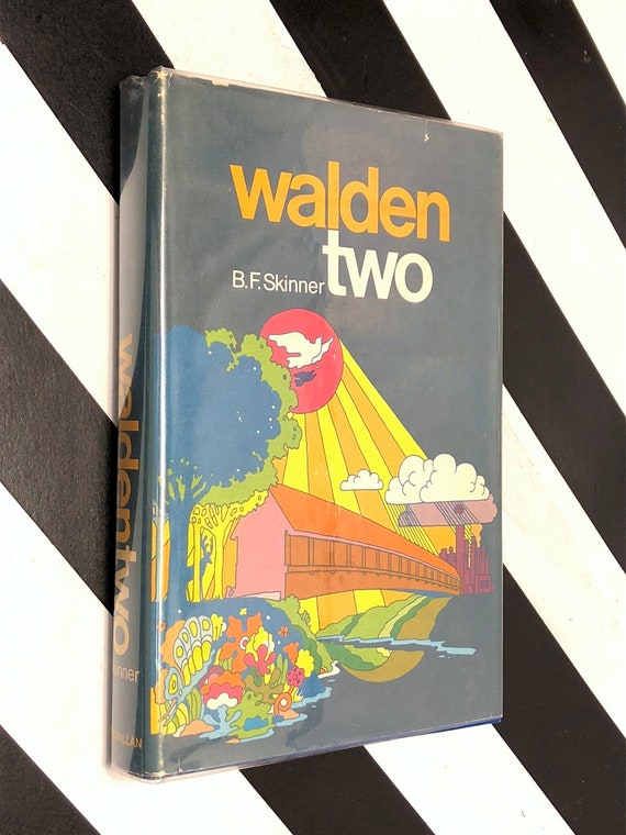 Walden Two by B.F. Skinner (1969) hardcover book