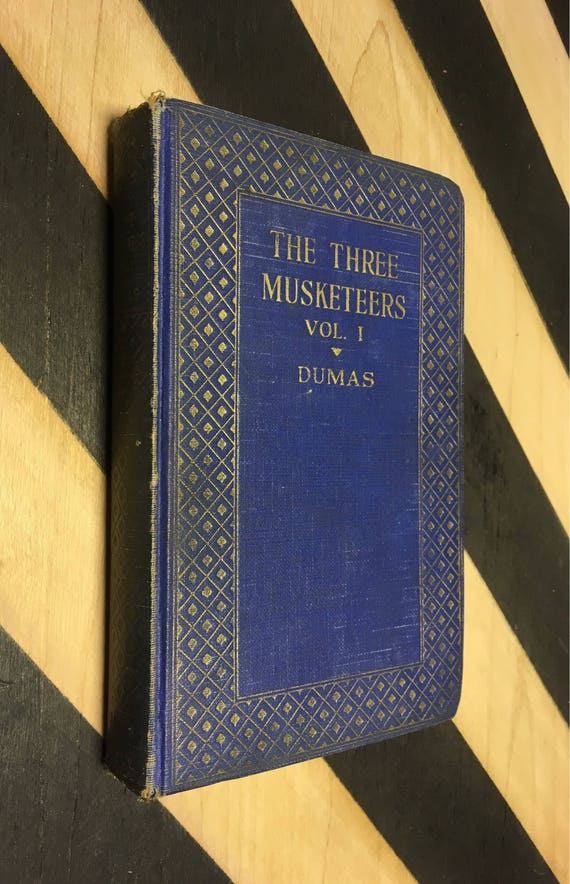 The Three Musketeers by Alexander  Dumas in Two Volumes Vol. 1 (Hardcover) vintage book
