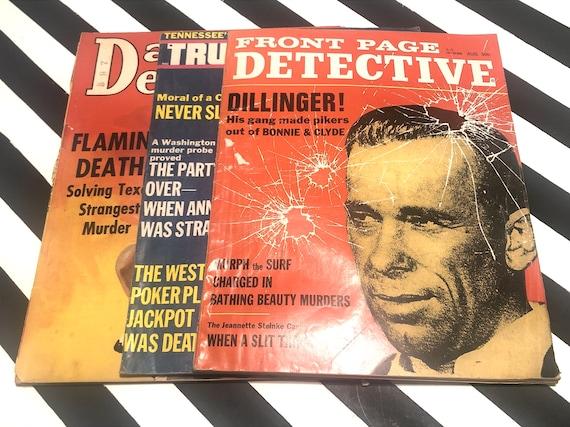 Vintage Detective Magazines - Daring Detective (October 1938) / Front Page Detective (August 1968) / True Detective (July 1969)