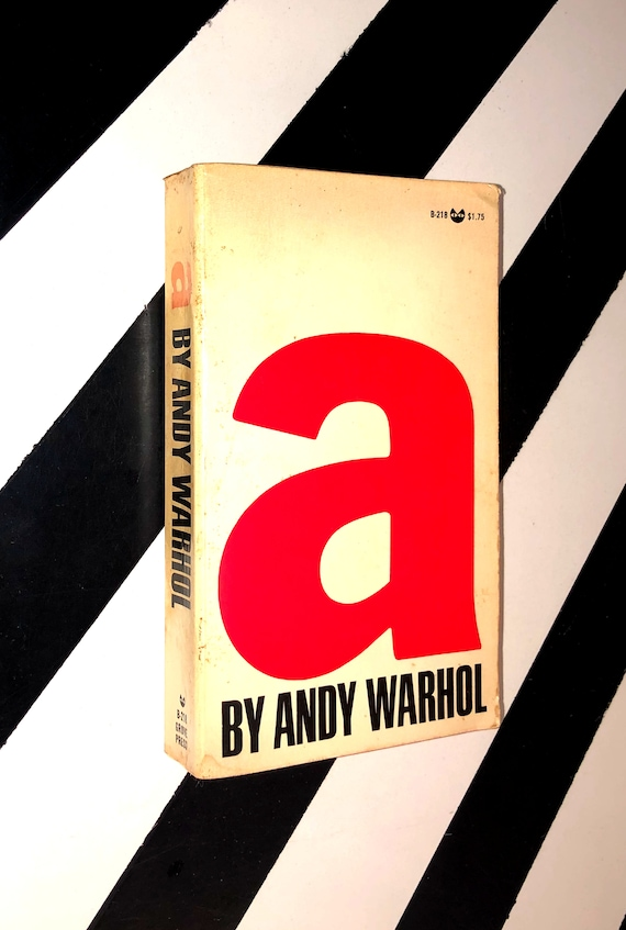 A: A Novel by Andy Warhol (1968) softcover first edition book