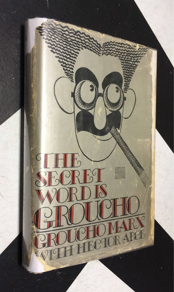The Secret Word is Groucho by Groucho Marx with Hector Arce (Hardcover, 1976) vintage book