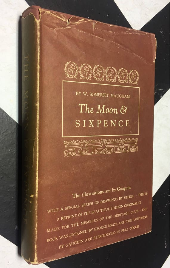 The Moon & Sixpence by W. Somerset Maugham (Hardcover, 1941) vintage book