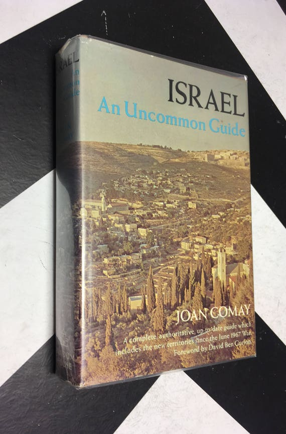 Israel: An Uncommon Guide by Joan Comay; Illustrated by Rafael D. Palacios (Hardcover, 1969) vintage travel book