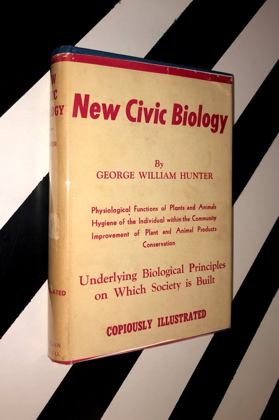 New Civic Biology by George William Hunter (1926) hardcover book