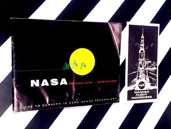 Vintage NASA Ephemera (1965) softcover paper ephemera
