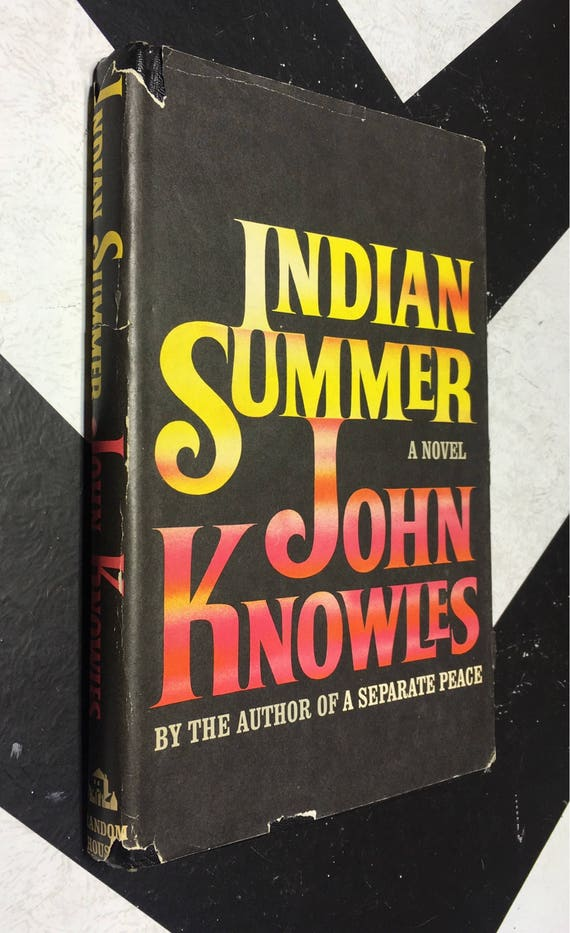 Indian Summer: A Novel by John Knowles (Hardcover, 1966) vintage book