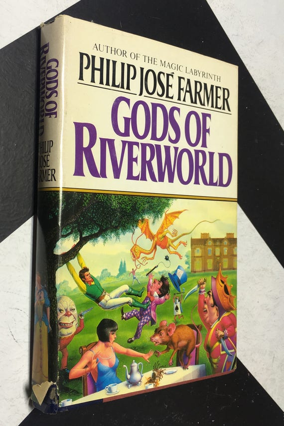 Gods of Riverworld by Philip José Farmer (Hardcover, 1983) vintage book