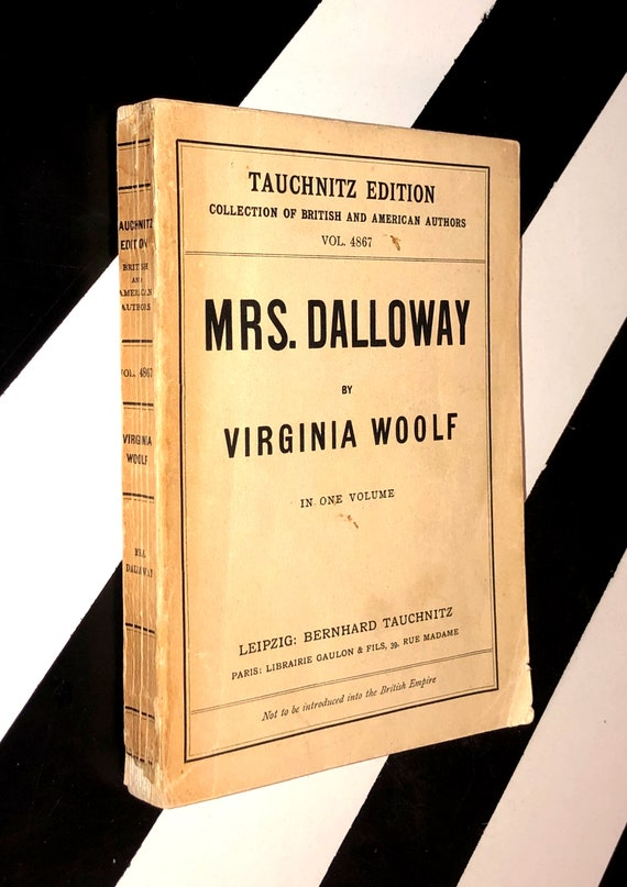 Mrs. Dalloway by Virginia Woolf (no date) hardcover book