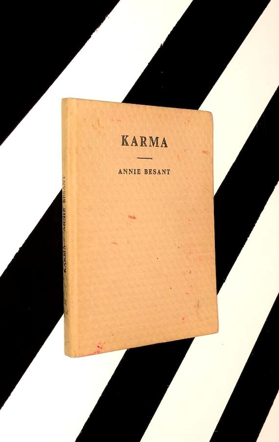 Karma by Annie Besant (1959) hardcover book