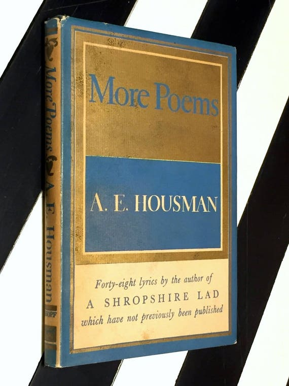 More Poems by A. E. Housman (1936) hardcover book