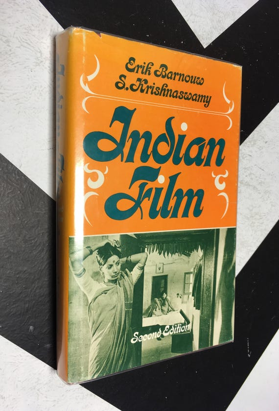 Indian Film: Second Edition by Erik Barnouw and S. Krishnaswamy vintage orange classic cinema movie book (Hardcover, 1980)