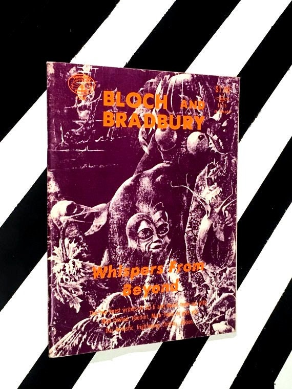 Bloch and Bradbury: Whispers from Beyond (1972) softcover magazine