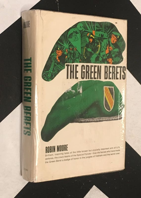 The Green Berets by Robin Moore (Hardcover, 1965) vintage military book