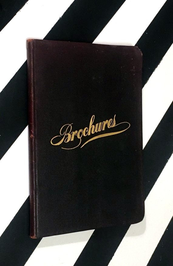 Brochures by Julius Myron Alexander (1925) softcover book with stiff covers