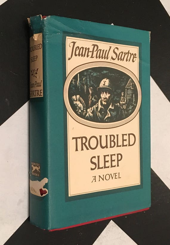 Troubled Sleep: A Novel by Jean-Paul Sartre vintage fiction blue philosophy novel(Hardcover, 1950)