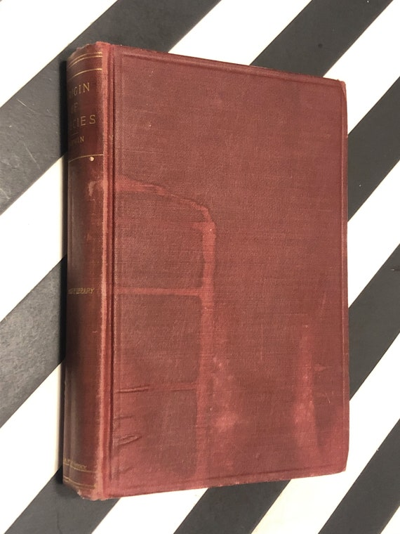 Origin of Species by Charles Darwin (1860) hardcover book
